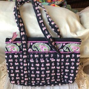 Vera Bradley Pink Elephants purse bag